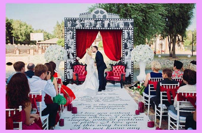 Свадебная церемония голливудский стиль