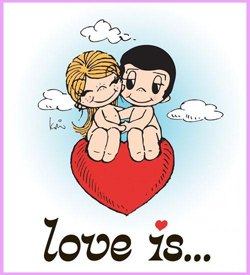 Наклейка Love is