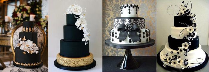 Свадебный торт в черных тонах