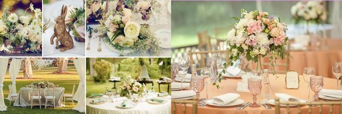 Декор свадьбы в английском стиле