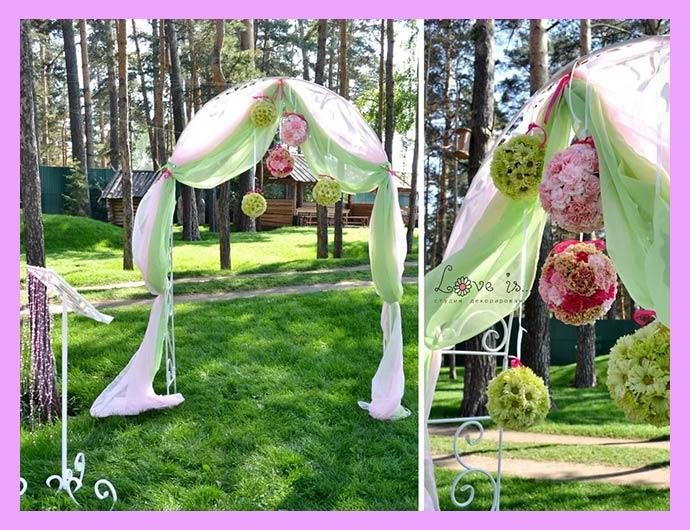 Место для фотосессии на арбузной свадьбе
