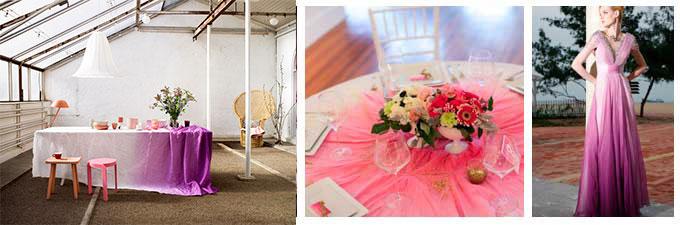 Цветовые градиенты на свадьбе