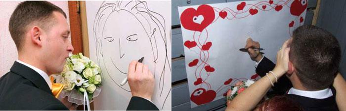 Конкурс жених рисует невесту