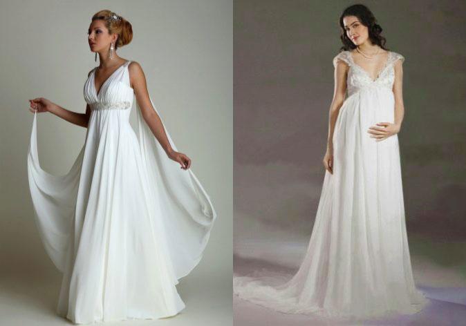 Свадебные платья в стиле ампир