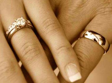 Руки и кольца обручальные