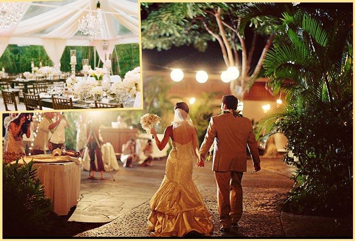 Молодожены и свадьба на природе