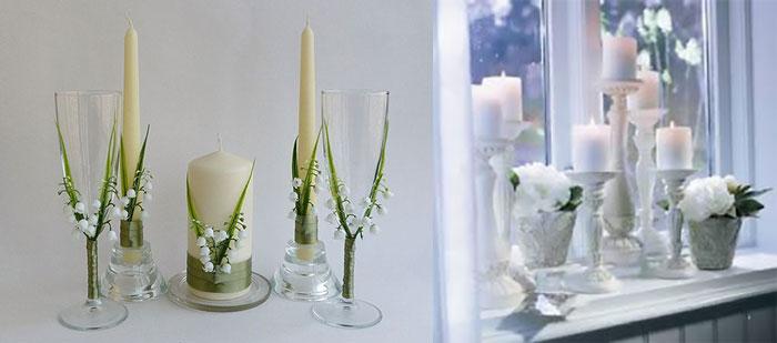 Разновидности свадебных свечей