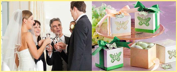 Поздравление родителей и бонбоньерки на свадьбе