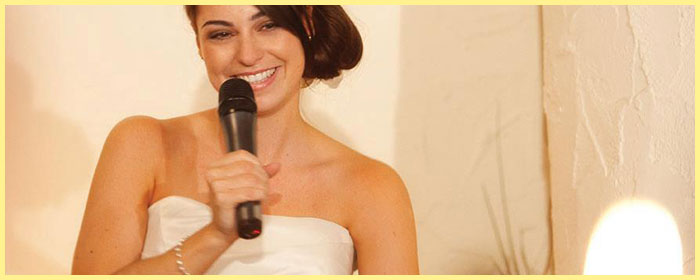 Невеста и ее тост