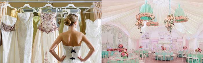 Выбор платья невестой и свадебный декор