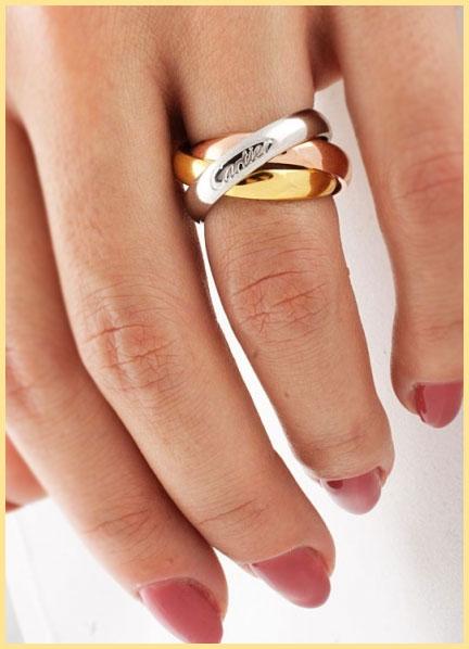 Рука и кольцо на пальце