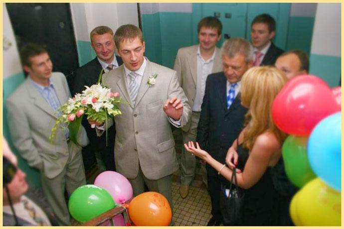 Жених договаривается о выкупе невесты
