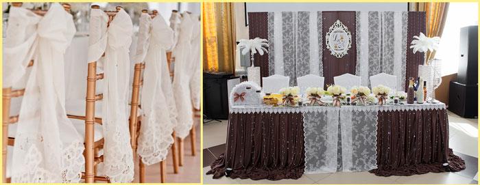 Декор свадьбы в кружевах