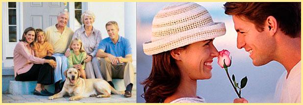 Семья и любовные отношения супругов