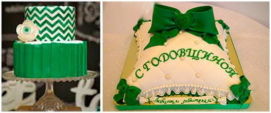 Свадебный торт 23 годовщина берилловая