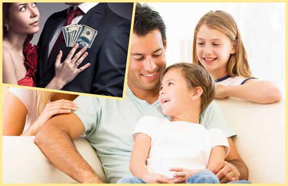 Мужчина с деньгами и с семьей