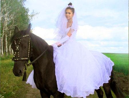 Эко свадьба на коне