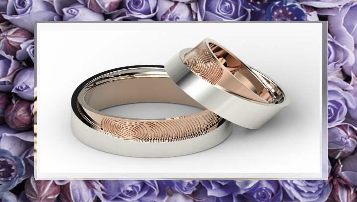 Вид необычного обручального кольца