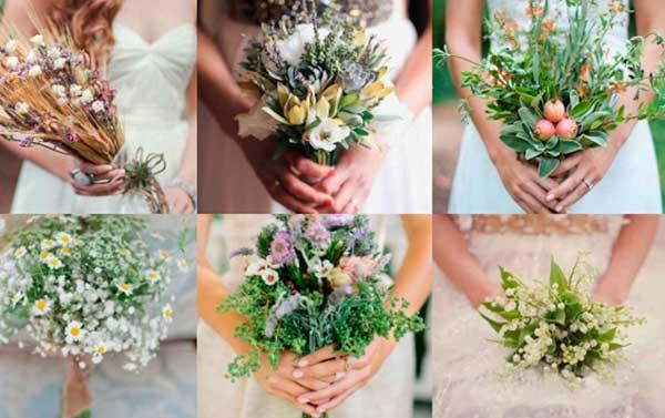 Букеты свадебные рустик стиля