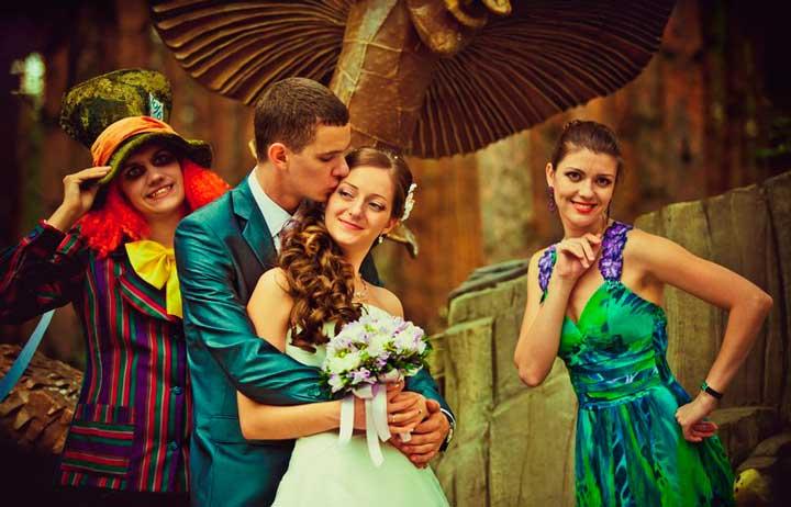 Букет на свадьбу для Алисы в стране чудес