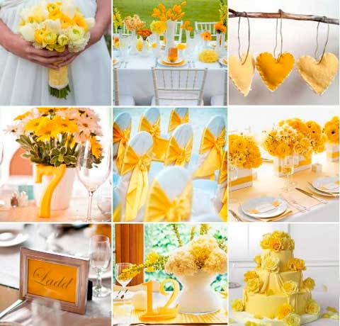 Декор на лимонной свадьбе