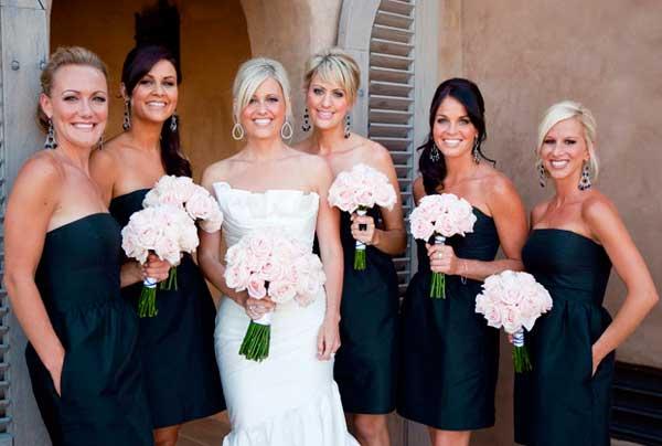 Черно белая свадьба- одежда гостей