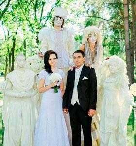 Жених и невеста и их наряды