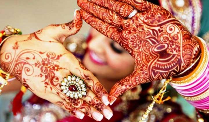 Мехенди на индийскую свадьбу