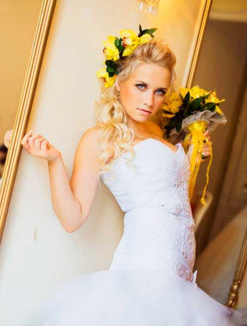 Свадебный фильм невеста с букетом