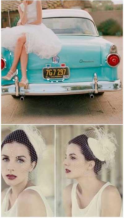 Образ невесты для свадьбы 60х годов