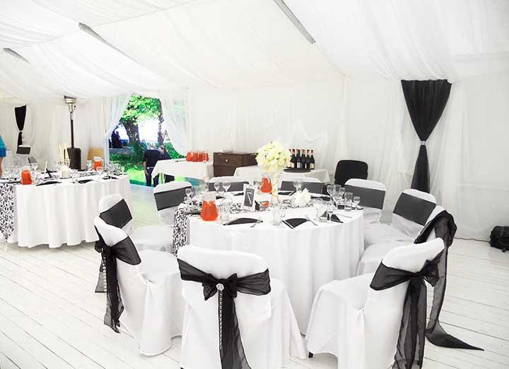 Оформление черно-белой свадьбы