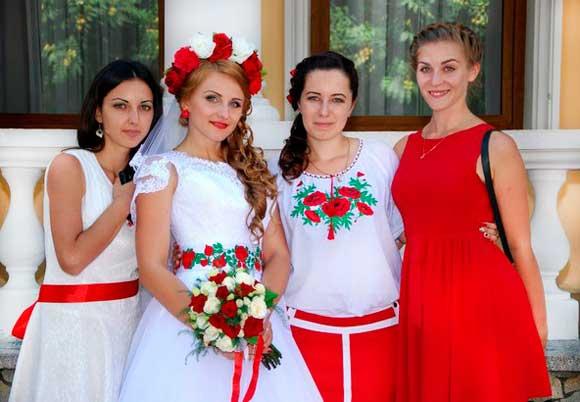 Невеста в русском народном стиле