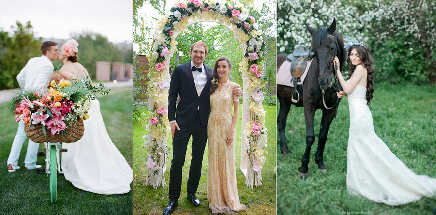 Фотоссесии майских свадеб