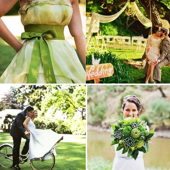 Ткани, цветы и юбки в зеленом стиле