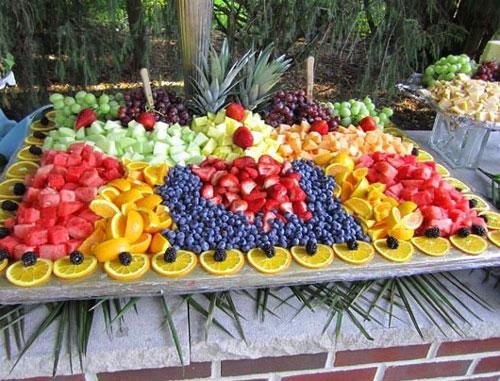 Стиль фруктовой свадьбы