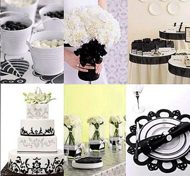 Мелочи черно-белой свадьбы