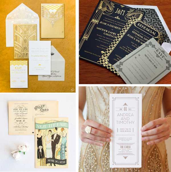 Приглашения на свадьбу Гэтсби