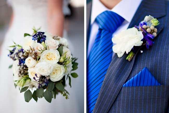 Свадебные цветы на бело синюю свадьбу