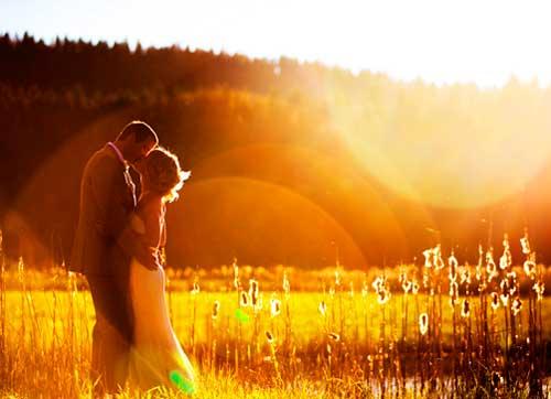 Свадебный романтический момент