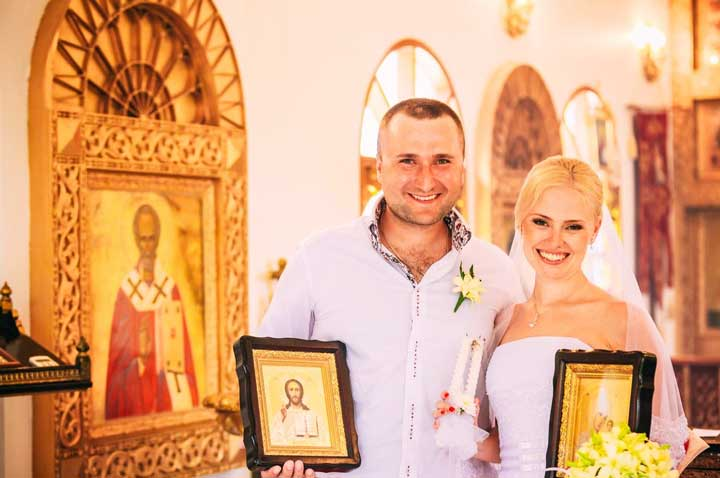 Производим съемку венчания в церкви