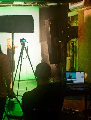 Съемка видео рекламы в студии