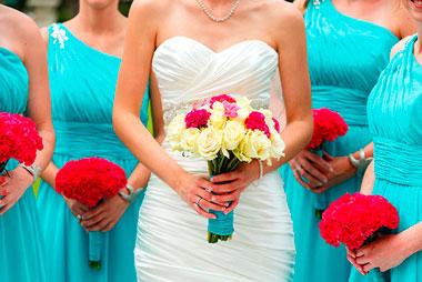 Цвета на свадьбе, подбор цветов