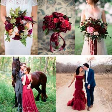 Цветы в стиле марсала