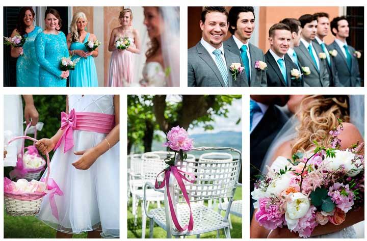 Выбор цвета свадьбы