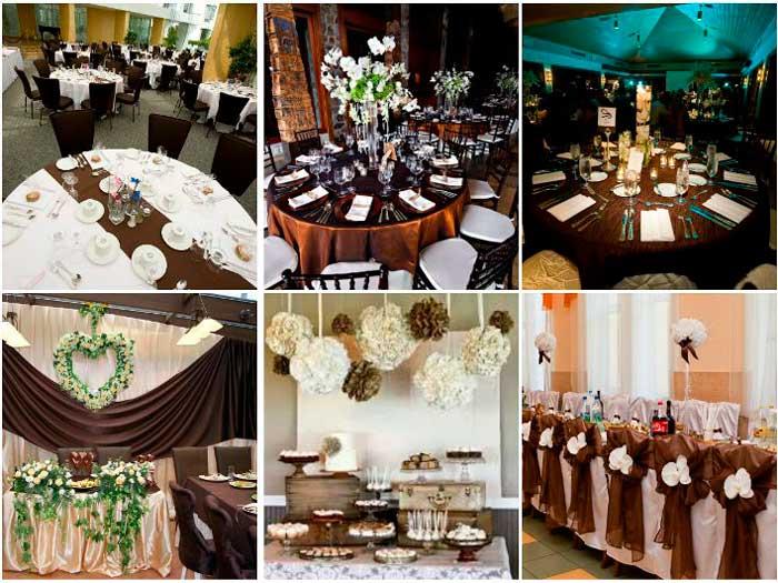 Банкетный зал шоколадной свадьбы