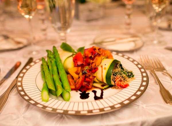 Блюда вегетарианской свадьбы