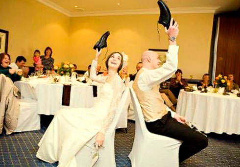 Выкуп на свадьбе- снимаем