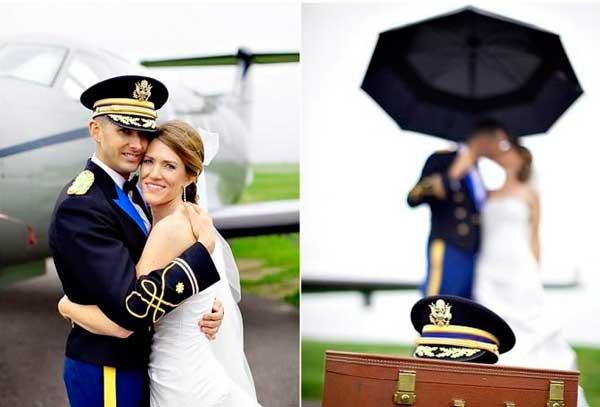 Жених и летчик на свадьбе
