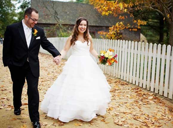 Жених и невеста в частном доме