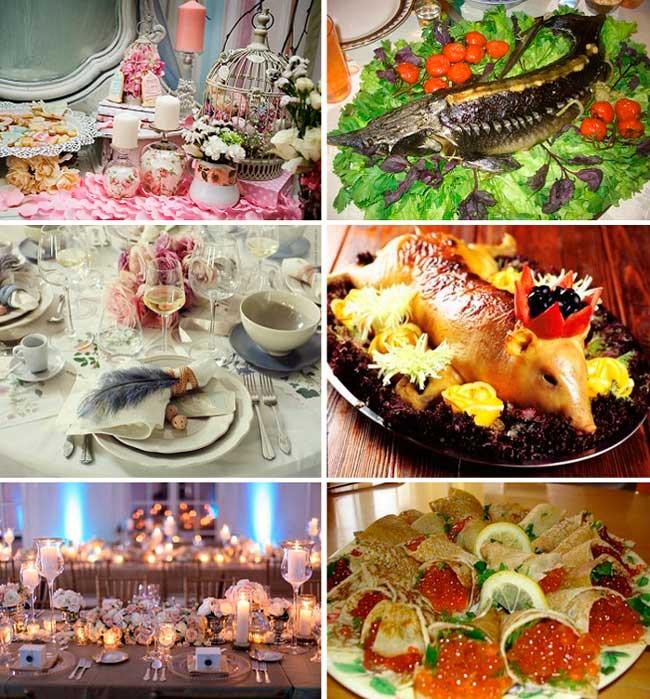 Королевский стол на свадьбе